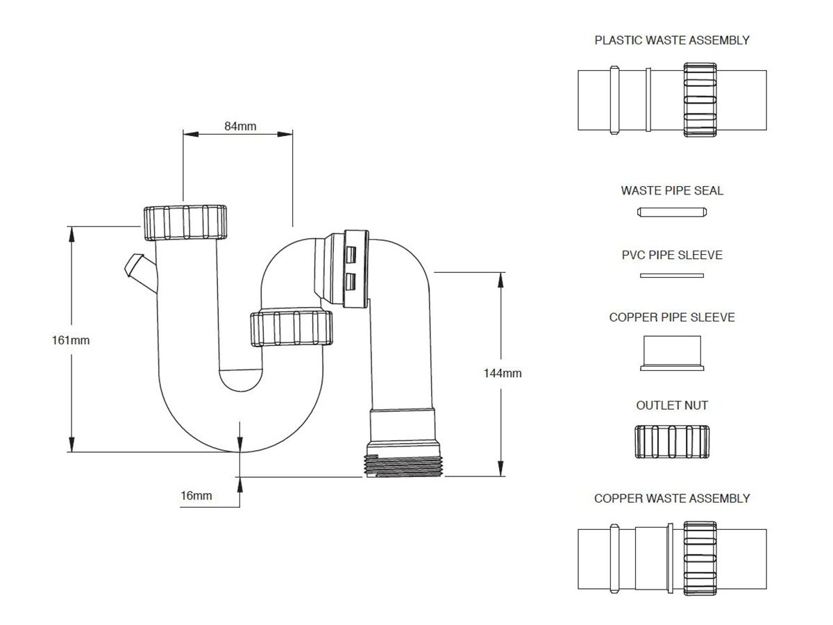 Dura Standard Combination S&P Trap 40mm