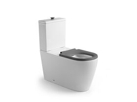 Wolfen Close Coupled Back to Wall Toilet Suite with Single Flap Seat 800mm Grey (4 Star)