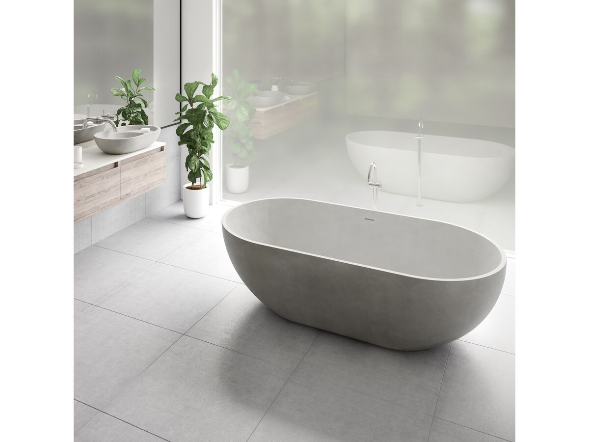 Omvivo Villa Freestanding Bath 1725 x 820 Cove Grey