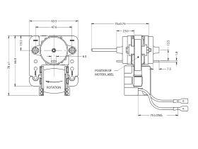 J03RF03 Frost Free Fan Motor (Clock)
