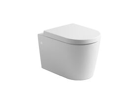 Kado Lux Wall Hung Rimless Pan with Soft Close Quick Release Seat White (4 Star)