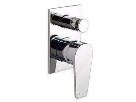 Yeva Shower / Bath Diverter with Rectangular Plate Chrome