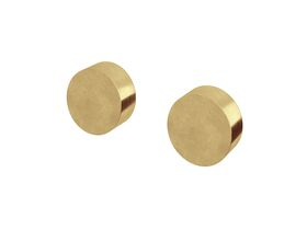 Milli Pure Wall Top Assembly Taps Living Tumbled Brass