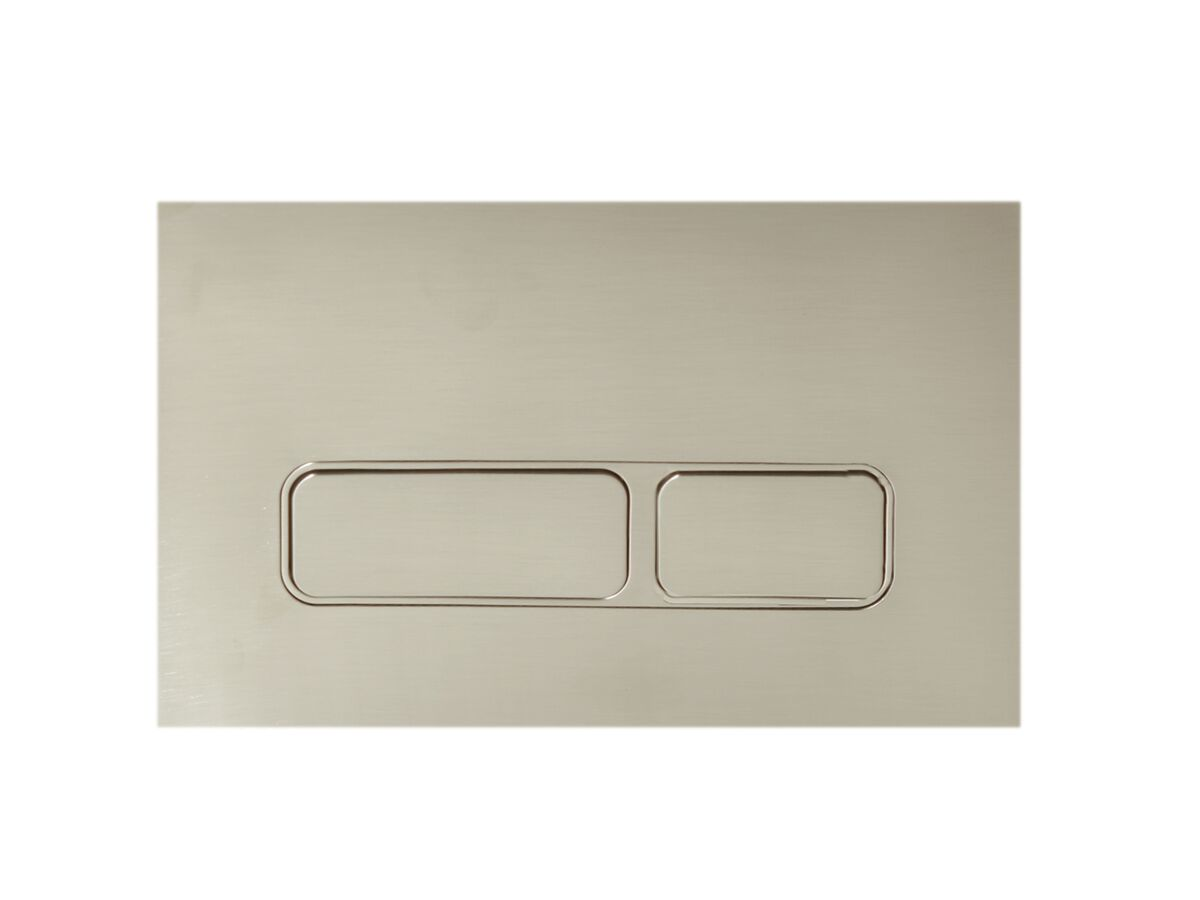 Hideaway+ Rectangle Button/ Plate Inwall ABS Brushed Nickel