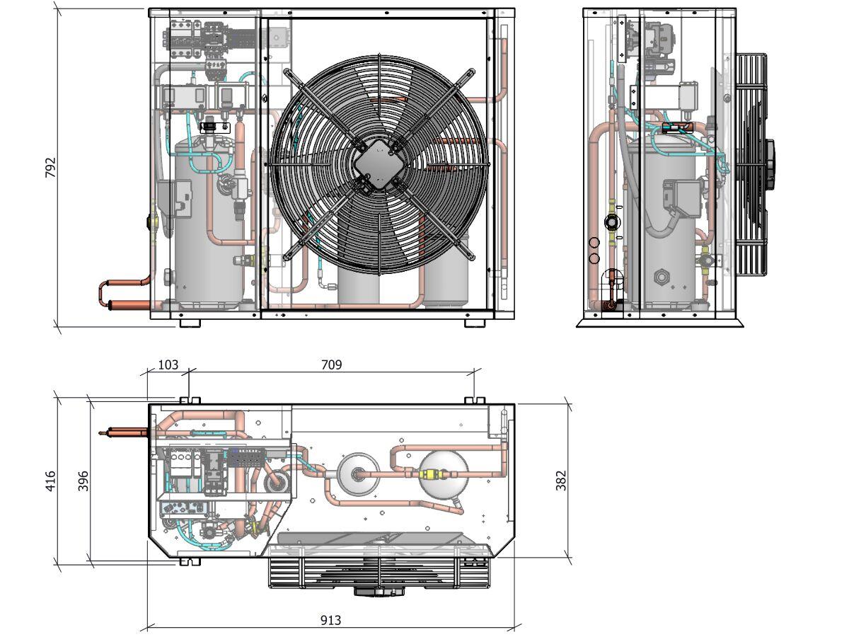Tecumseh Compac Scroll 2.5Hp Pas4530Z-3