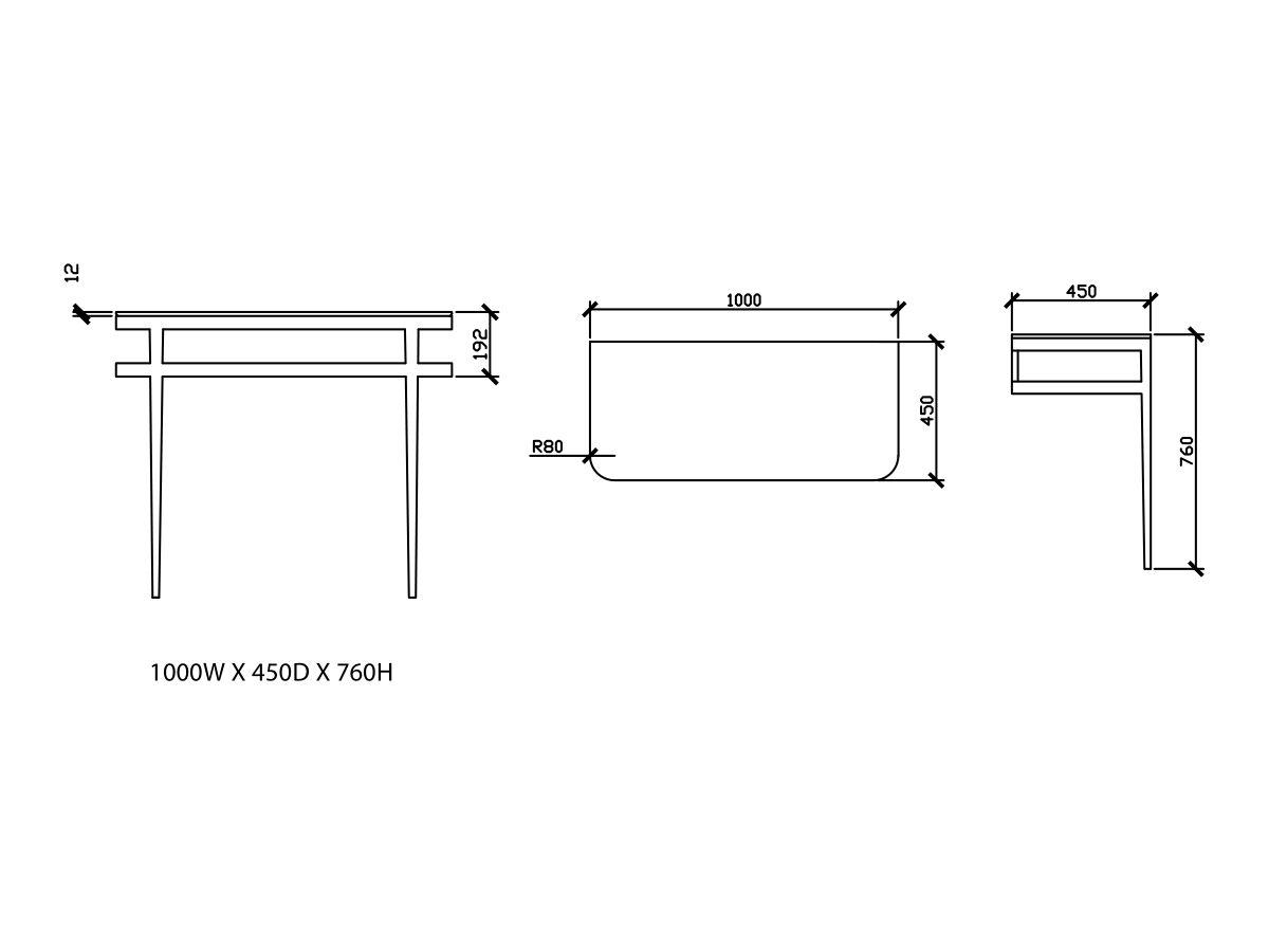 Issy Z1 Vanity Unit 1000mm (W) x 450mm (D) No Basin
