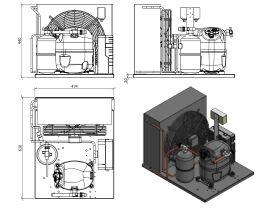 Tecumseh AJ2 HTA Condensing Unit 3/4HP R134 MHBP CAJT4492YHR-FZ-3 with Pressure Control