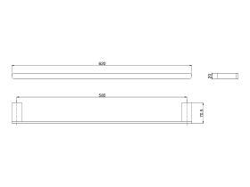 Mizu Soothe Single Towel Rail 600mm