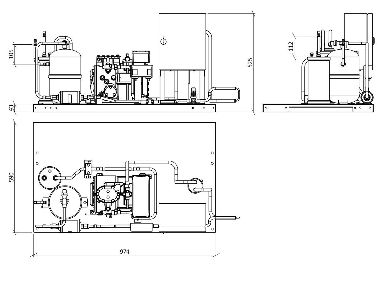 Tecumseh Semi Hermetic Receiver Unit SHR4526ZHR