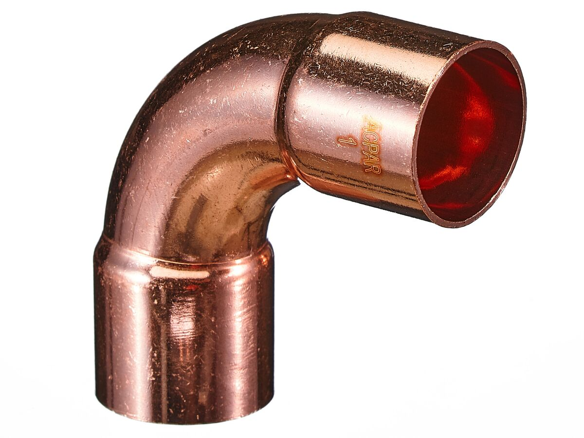 """Ardent Copper Elbow 1"""" ID x 90 Degree Packet of 2"""""""