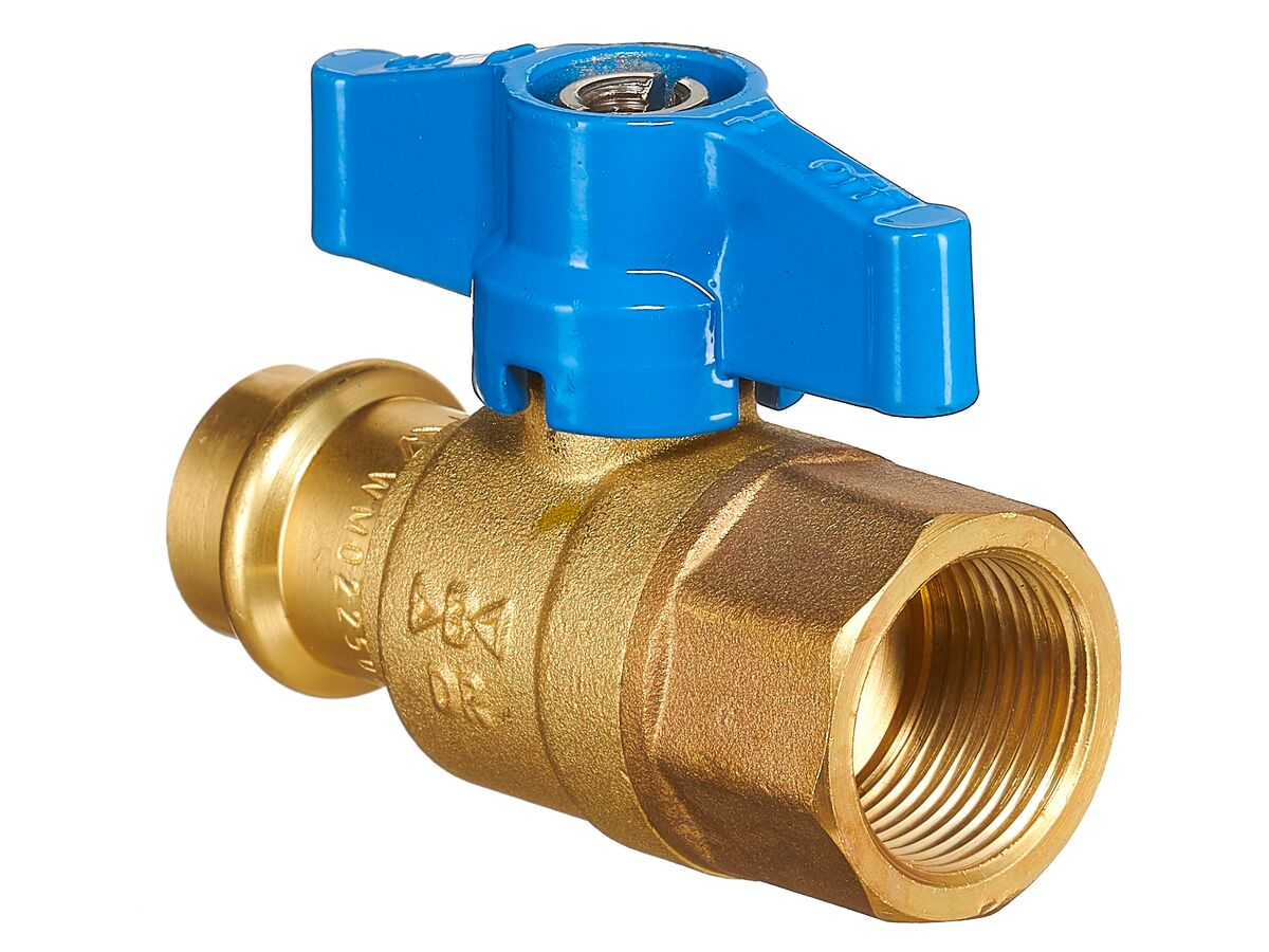 B-Press Ball Valve Water T-Handle Copper DN20 x Female BSP 3/4""""
