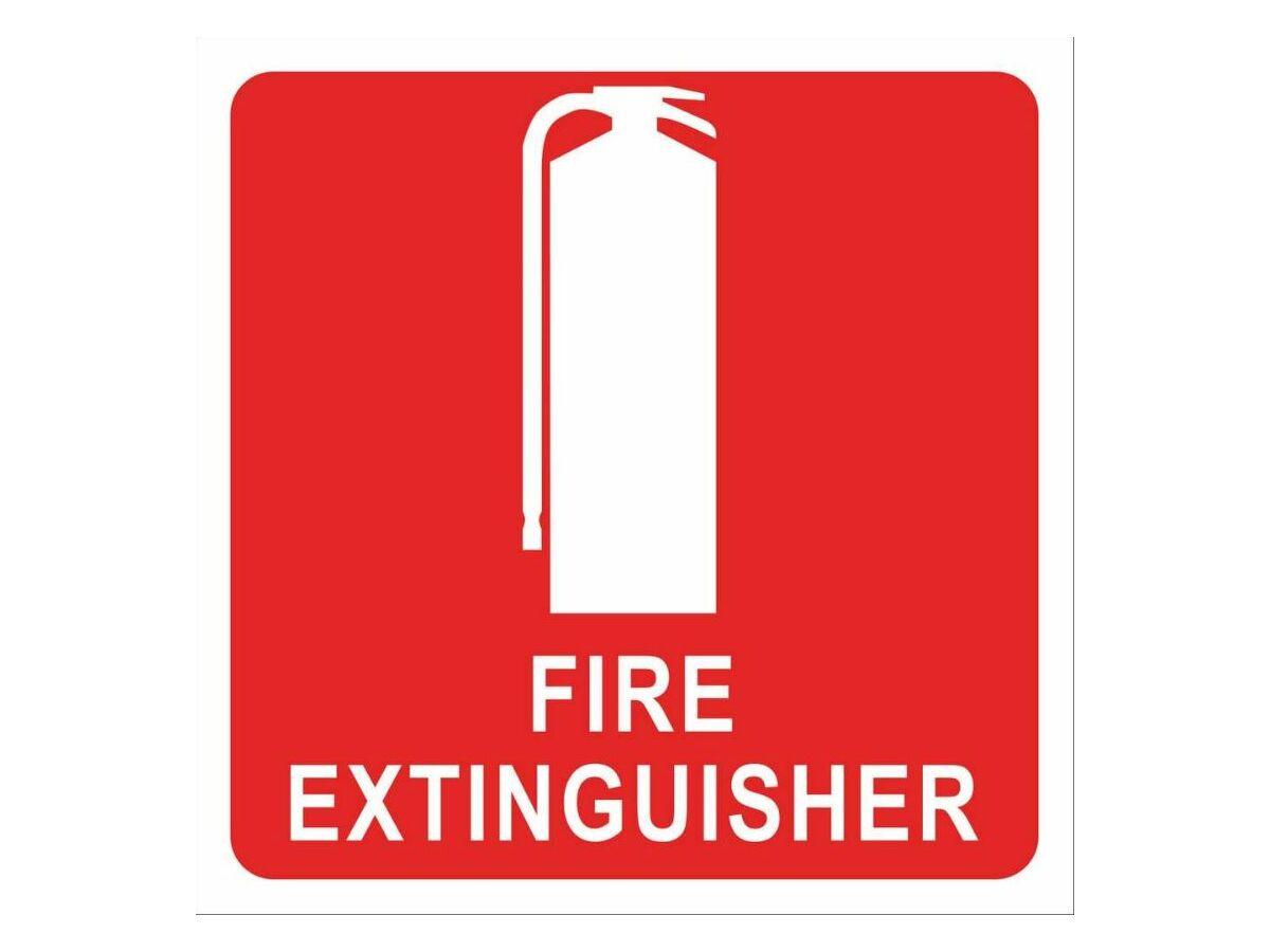 Extinguisher Location 100mm x 100mm - Sticker