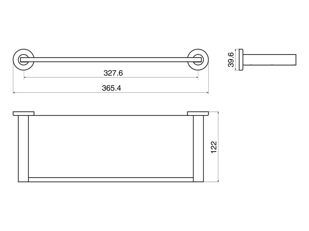 Mizu Drift Glass Shelf 370mm