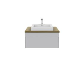 Acqua Wall Hung Vanity Unit 750mm Blackbutt Timber Top