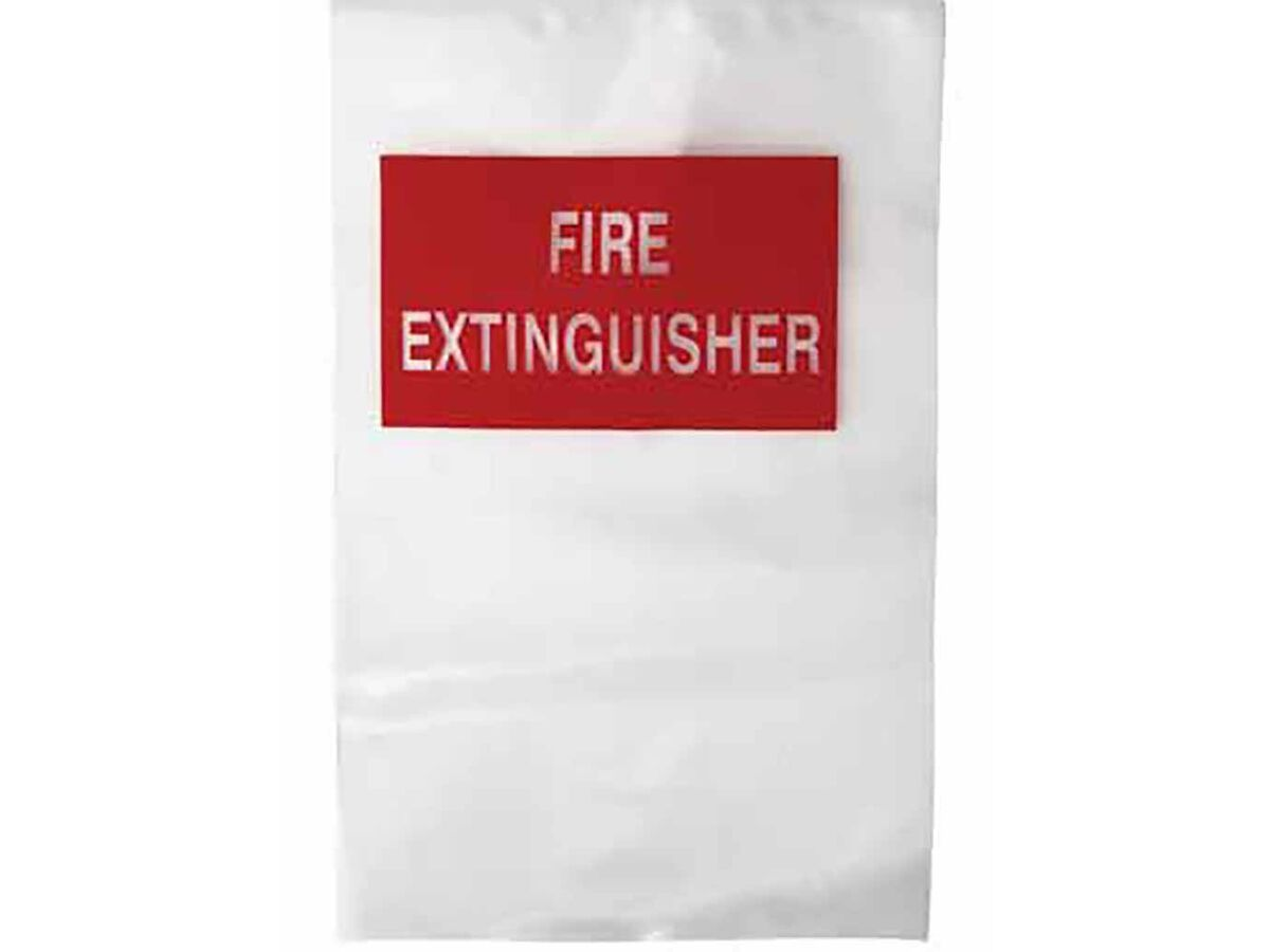 Fire Extinguisher Clear Plastic Covers - Small