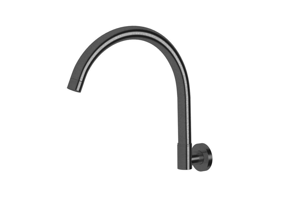 Scala Wall Spa Outlet Curved LUX PVD Brushed Smoke Gunmetal