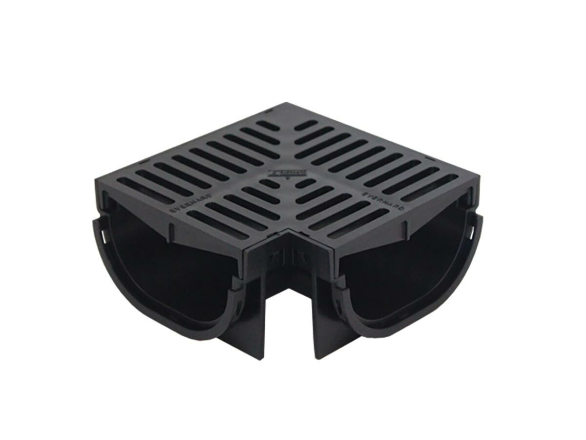 Easydrain Compact Corner with Black Grate