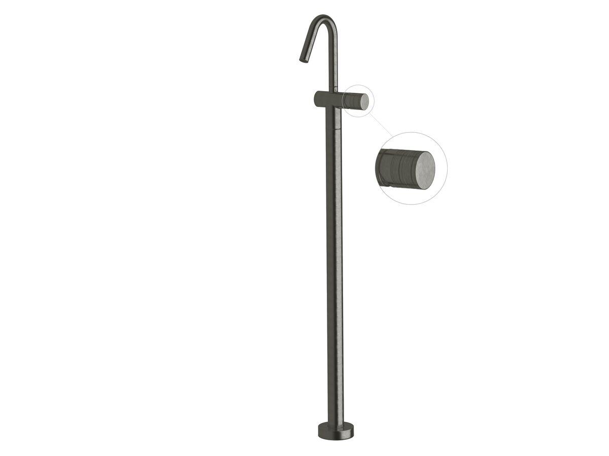 Milli Pure Floor Mounted Basin Mixer Tap Trimset Cirque Brushed Gunmetal (5 star)