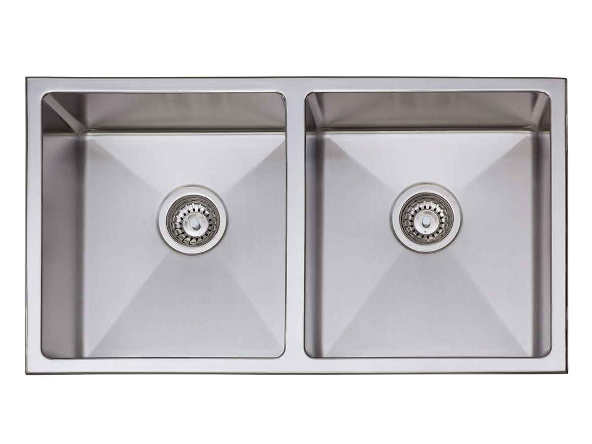 AFA Exact Double Bowl Inset/ Undermount Sink No Taphole 792mm Stainless Steel